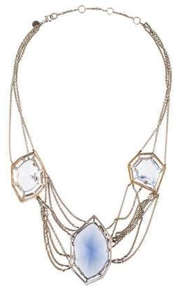 Alexis Bittar Crystal Draping Chain Necklace