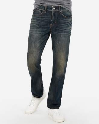 Express Classic Straight Dark Wash Stretch Jeans