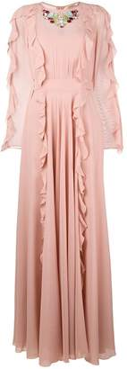 Liu Jo ruffle detail evening dress