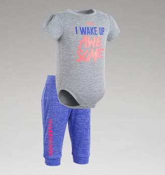 "Under Armour UA Girls I Wake Up Awesome â"" Newborn"
