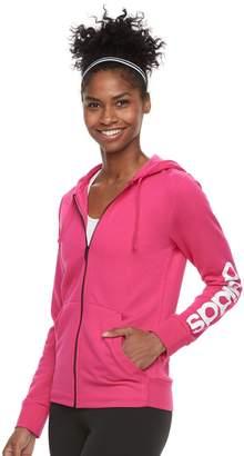 adidas Women's Essential Linear Logo Fz Hoodie