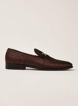 Topman Burgundy Suede Tucker Snaffle Loafers