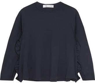 Comme des Garçons Comme des Garçons - Ruffled Wool Sweater - Navy $385 thestylecure.com