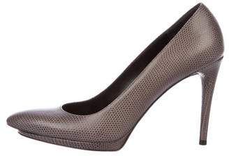 Balenciaga Embossed Pointed-Toe Pumps