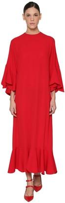 Valentino Silk Georgette Midi Dress
