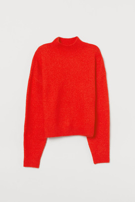 H&M Knit Mock-turtleneck Sweater - Orange