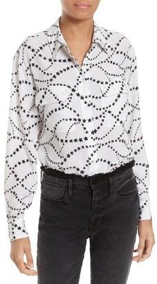 Women's Equipment Signature Silk Shirt $268 thestylecure.com