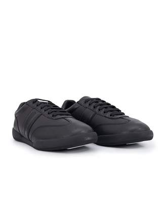 Armani Exchange Leather Trainers Colour: BLACK, Size: