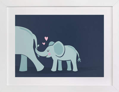 Wee Little Elephant Self-Launch Children's Art Print