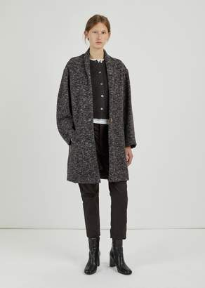 Etoile Isabel Marant Osbert Round Shoulder Coat Anthracite