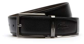 d39551bf067e4c Lacoste Men s Reversible Leather Belt And Two Buckles Gift Set