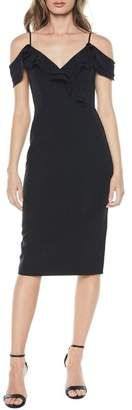 Bardot Raene Frill Neckline Sheath Dress