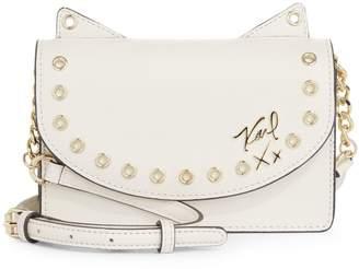 Karl Lagerfeld Paris Grommets Crossbody Bag
