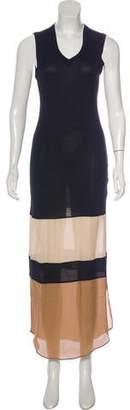 Haute Hippie Colorblock Sleeveless Dress