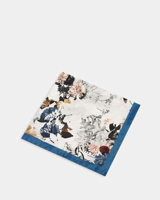 Ted Baker ROMNEY Floral print silk pocket square