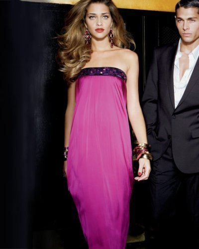 Strapless Embellished Maxi Dress
