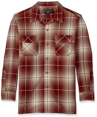 Pendleton Men's Long Sleeve Worsted Wool Board Shirt