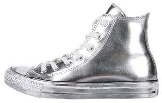 Converse Metallic Leather High-Top Sneakers w/ Tags