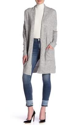 Susina Knee Length Shawl Collar Cardigan