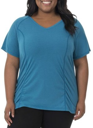 Fruit of the Loom Fit for Me by Women's Plus-Size Shirred Tee