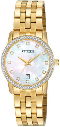 Citizen Women's Gold-Tone Stainless Steel Bracelet Watch 27mm EU6032-51D