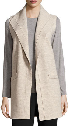 Eileen Fisher Icon Boiled Wool Long Vest $338 thestylecure.com