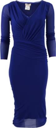 FUZZI Sheer Sleeve Dress $425 thestylecure.com