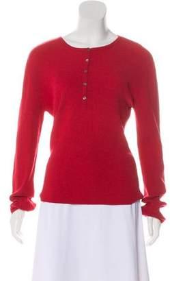 Theory Rib Knit Long Sleeve Sweater