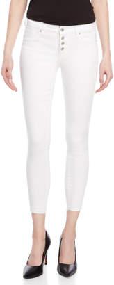 Jessica Simpson White Kiss Me Vintage Ankle Skinny Jeans