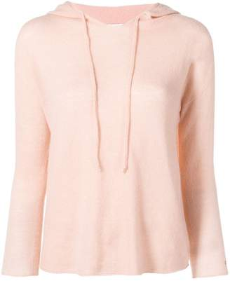 Pinko hooded knitted top