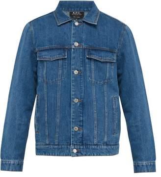 A.P.C. Veste Charles Cotton Blend Denim Jacket - Mens - Indigo