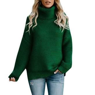 TAORE Long sleeve Women Long Sleeve Turtleneck Knitted Sweater Jumper Pullover Top