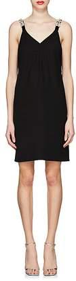 Prada Women's Daisy-Embellished Slipdress