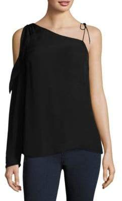 Paige Florentina Asymmetrical Silk Top