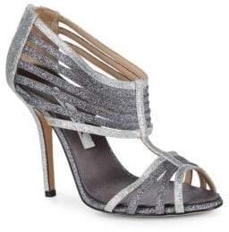 Oscar de la Renta Beth Glitter Strappy Heels