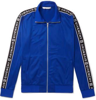 88b1d97940a8 Givenchy Logo-Jacquard Fleece-Back Tech-Jersey Track Jacket