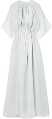 The Row Katelyn Silk-gauze Gown - Light gray