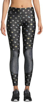 Terez The Many Faces Of Mickey Mouse Tall Band Leggings