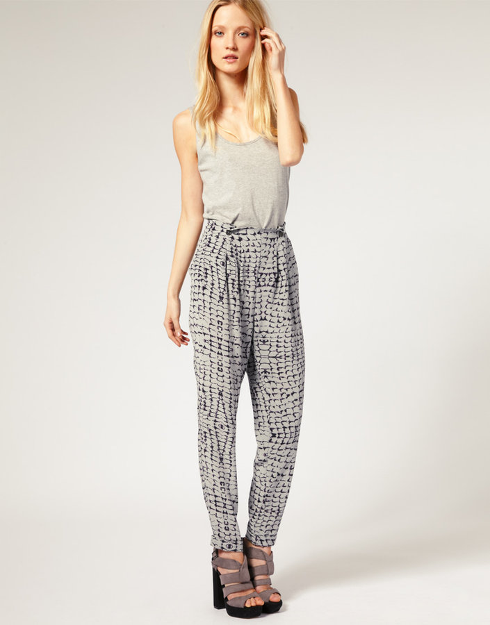 Ted Baker Pants With Abstract Snake Print