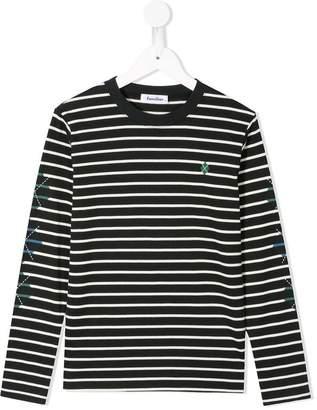 Familiar striped long sleeve T-shirt