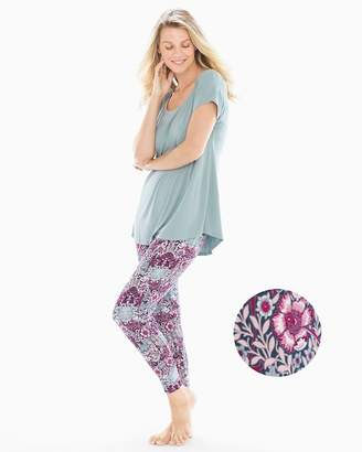 Cool Nights Short Sleeve Pajama Set Willow Floral Slated