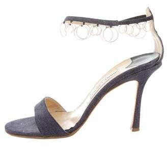 Jimmy Choo Denim Ankle-Strap Sandals