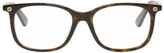 Gucci Tortoiseshell Logo Glasses