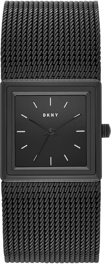 DKNYStonewall Mesh Black IP Stainless Steel Watch