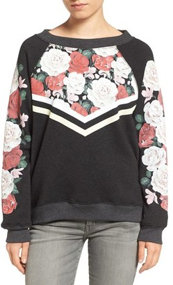 Women's Wildfox Rose Race Pullover $114 thestylecure.com