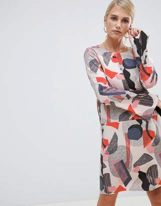 Vila geo print shift dress