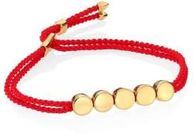 Monica Vinader Linear Bead Friendship Bracelet/Coral