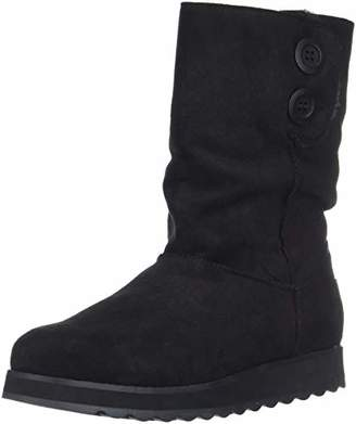 Skechers Women's Keepsakes 2.0 - Big Button Mid Slouch Boot with Microfiber Upper Fashion