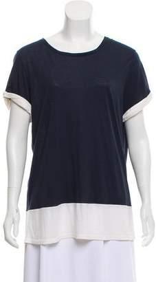 Vince Colorblock Short Sleeve Top