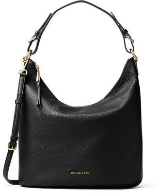 MICHAEL Michael Kors Lupita Large Leather Hobo Bag, Black $298 thestylecure.com